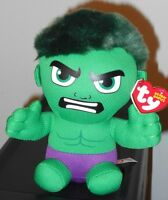 2016 Ty Beanie Baby Babies Marvel - The Incredible Hulk 6 In Hand