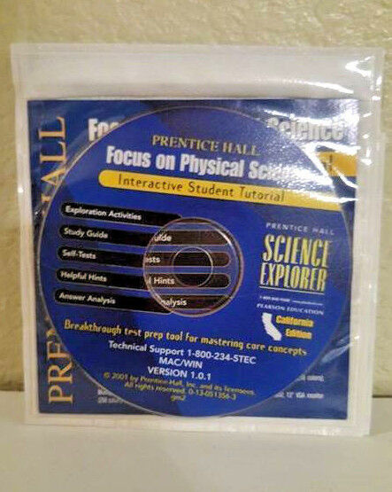 Prentice Hall Physical Science 8th Grade 8 Cd-rom Tests Answers Homeschool
