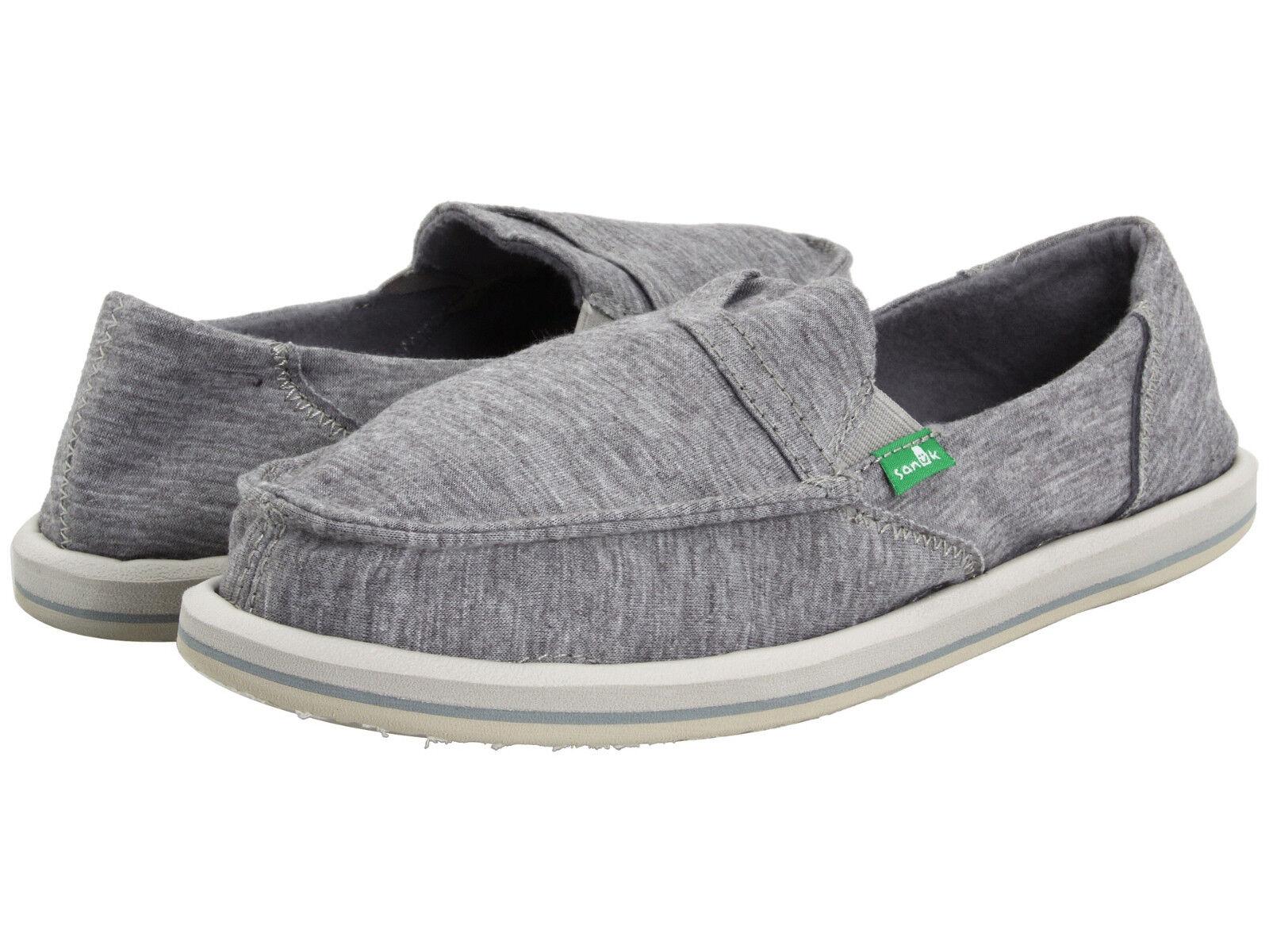 Women Sanuk Pick Pocket Fleece Slip On SWF1117 Light Grey 100% Original Bran New
