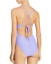 Red-Carter-Lilac-Plunge-Ribbed-One-Piece-Maillot-Size-S-4-6-Swimsuit-NWT-150 miniature 2