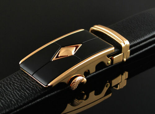 High Quality Genuine Leather Men Automatic Belt Buckle Strap Waistband Accessory