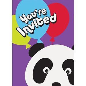 Happy birthday panda party invitations 8 supplies stationery image is loading happy birthday panda party invitations 8 supplies stationery bookmarktalkfo Choice Image