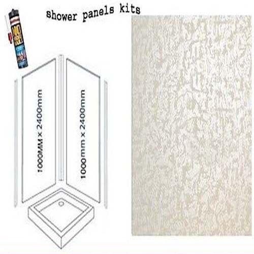 Perlé Blanc Douche panneaux muraux Kits 2X1M X 2400X 10 mm épais