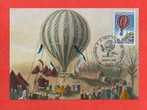 FDC-1970-Centenario-De-La-Correo-Por-Ballons-Montar-1870-1871-K294