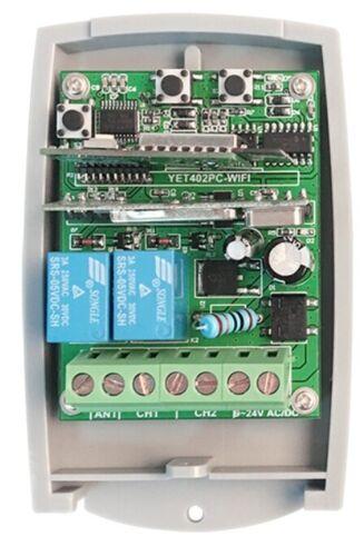 Universel Wi-Fi 12-24V Dc-Ac 2-Channel Fixé /& Roulant Code Récepteur 433.92MHz