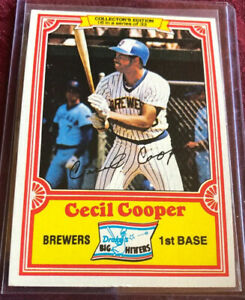 Cecil Cooper 1981 Topps Drake's Big Hitters Card # 16, Milwaukee Brewers