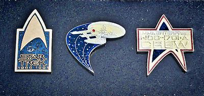 Star Trek 25th Anniversary Green Command Logo and Name Metal Enamel Pin 1991 NEW