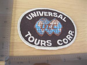 UNIVERSAL TOURS CORP TRAVEL EMPLOYEE PATCH BADGE VINTAGE SEW OR IRON ON CL
