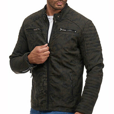 REDBRIDGE BY CIPO & BAXX FORT WAYNE MENS CAMOUFLAGE LEATHER JACKET ALL SIZES
