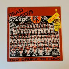 DEAD KENNEDYS Too Drunk To F*ck Punk Rock Canvas Patch