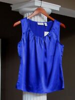 Chico's Blue Silky Splendor Tank Top Shell Cami Size 0 (4-6) $49