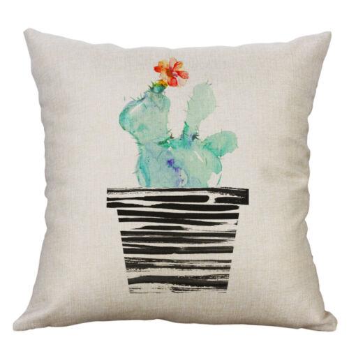 "18/"" Cotton Linen Flower Printing Pillow Case Cushion Cover Sofa Home Decor"