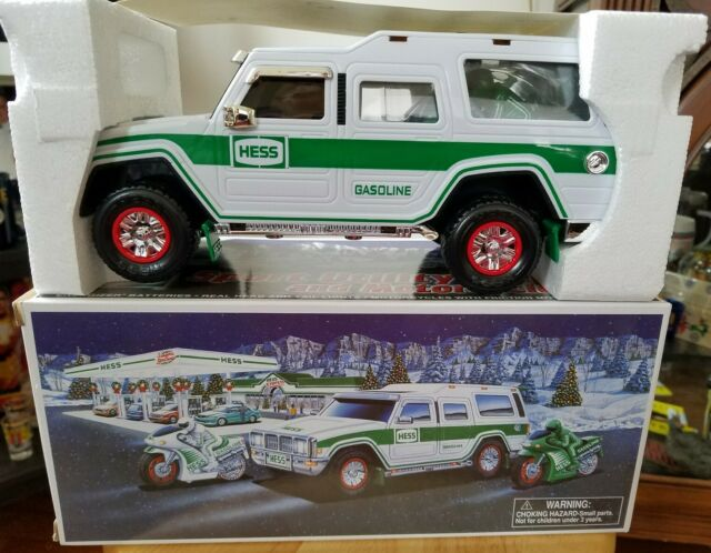 Hess Toy Truck 2004 Sport Utility With Motor Cycles 40th