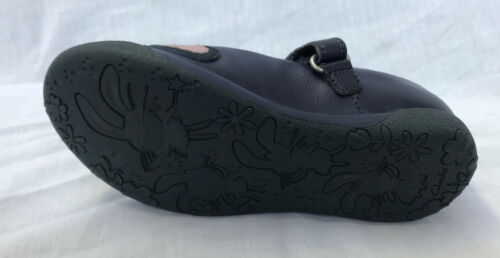 BNIB Clarks Girls Binkies Nibbles Cute Navy Leather Shoes F /& G Fitting