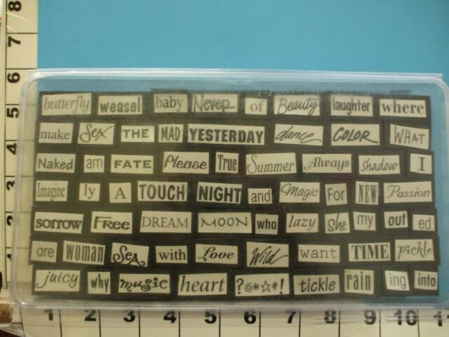 words sayings foam mounted rubber stamps 4V