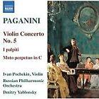 Niccolo Paganini - Paganini: Violin Concerto No. 5; I palpiti; Moto perpetuo (2013)