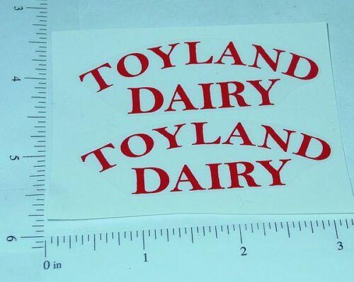 Girard Toyland Dairy Tanker Sticker Set         GI-001R