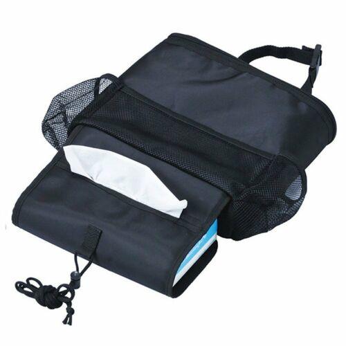 Car Seat Back Organizer Multi-Pocket Travel Storage Bag Mesh Pockets /& Bottle