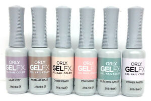 Orly GelFX GEL NAIL POLISH- PASTEL CITY - Choose Any Color 0.3oz/9mL ...