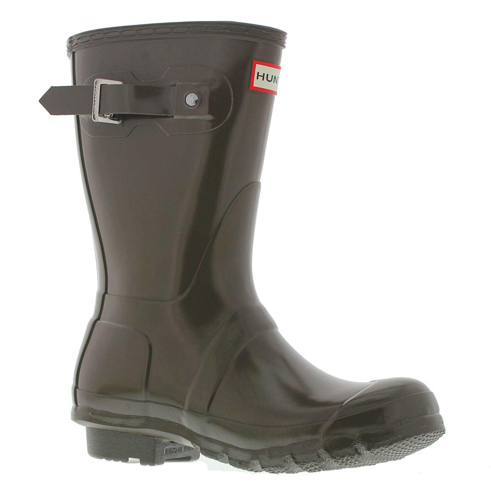 Hunter Original Short Gloss Swamp Green Womens Boots