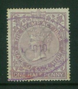Cape-Of-Good-Hope-1865-QV-d-Revenue-stamp-ME287