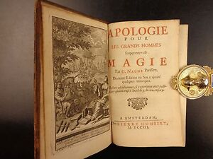 1712-Apologie-by-Naude-MAGIC-Sorcery-Alchemy-Occult-PARACELSUS-Merlin-Agrippa