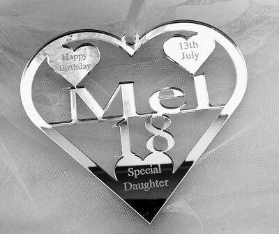 100% Vero Speciale Figlia, Nipote 18th Compleanno Regalo Personalizzato Con Nome Mel- Ampia Selezione;