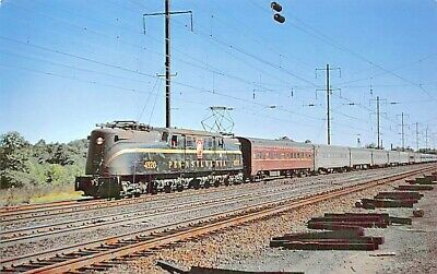 Penn Central Railroad P-Motor Train Hastings on Hudson New York 1986 Postcard