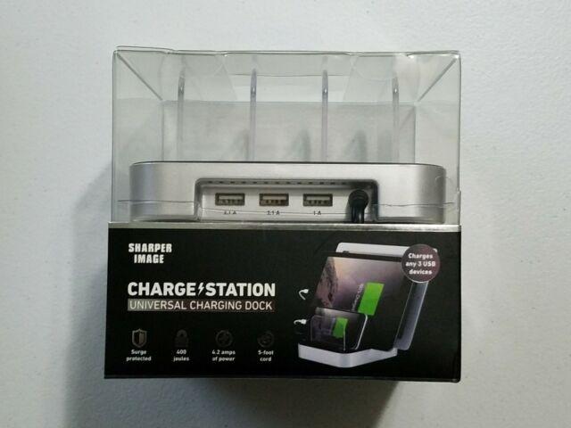 Sharper Image Charging Station Dock 3 Usb K33 Ebay