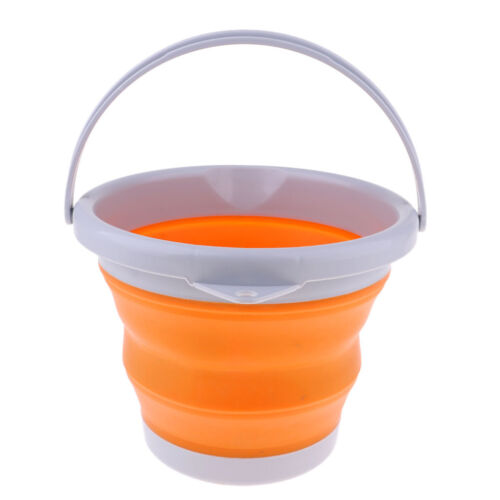5L Camping Folding Collapsible Silicone Water Bucket Outdoor Basin