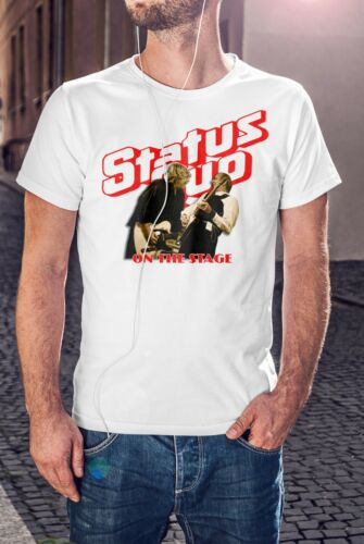 Status Quo Rock Band On The Stage Men Printed T-shirt