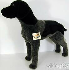 KOSEN Made in Germany NEW German Shorthaired Pointer Dog Black & Gray PLUSH TOY