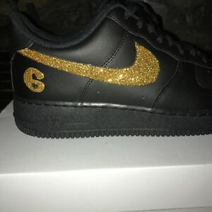 Details about Men s Air Force 1 black gold ff2506af2