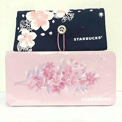 2Pcs Starbucks Sakura Zip  Wallet Leather Bag in Thailand Only
