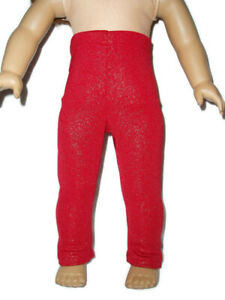 Sparkly-Red-Leggings-fits-American-Girl-dolls-18-034-doll-clothes