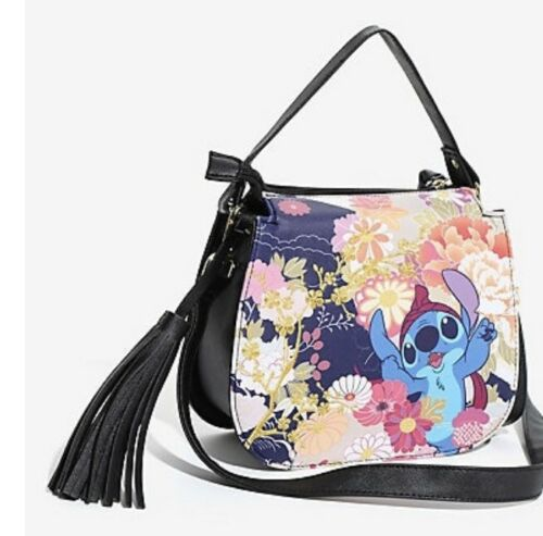 Details about  /Disney Loungefly Lilo /& Stitch Shoulder Bag Crossbody Purse Festival Print New