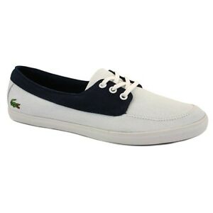 Lacoste Ziane Women's Casual Canvas Trainers - White -  Low Lace Shoes Chunky