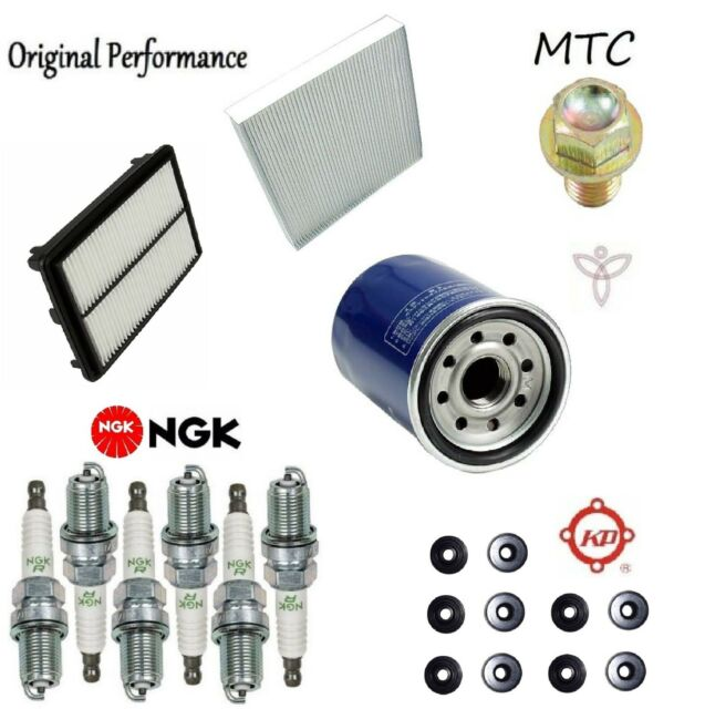 Tune Up Kit Cabin Air Oil Filter Plugs O-Rings For Acura