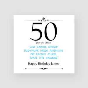Birthday Cards For Him.Details About Personalised Handmade Funny Birthday Card For Him 40th 50th 60th 70th 80th 90th