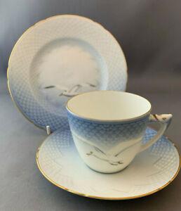 B-amp-G-Bing-amp-Grondahl-Seagull-Trio-Tea-Cup-amp-Saucer-Side-Plate