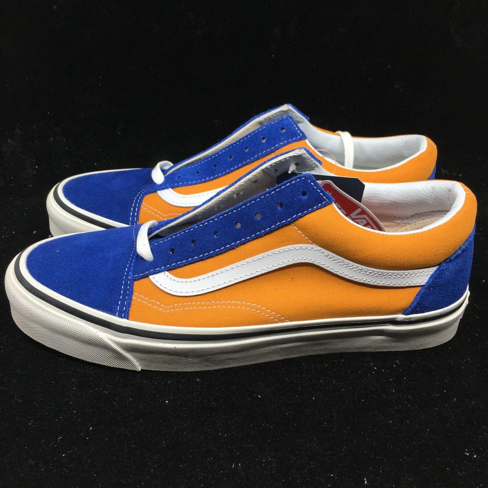 Vans Men's shoes Anaheim Factory Old Skool 36 DX OG bluee OG Saffron VN0A38G2R1V