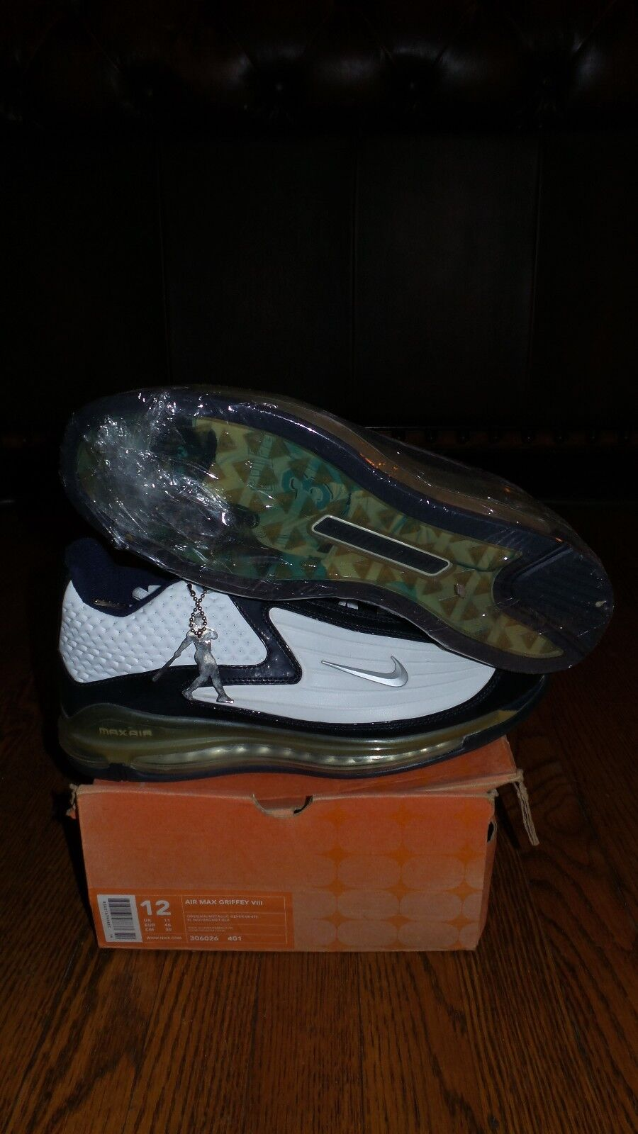 Og 306026-401 nike air max griffin 8 w / griffin sz12, nuovo emblema (2003)
