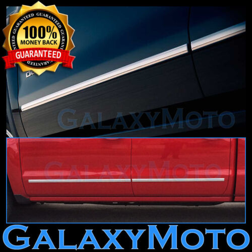 15-16 Chevy Tahoe SUV 4 Door Chrome Body Side Molding Front+Rear 4pcs Set