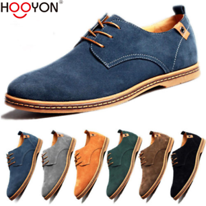 596d1968fd5a7 Men Oxfords Casual Shoes Suede European Style Leather Shoes Lace Up ...