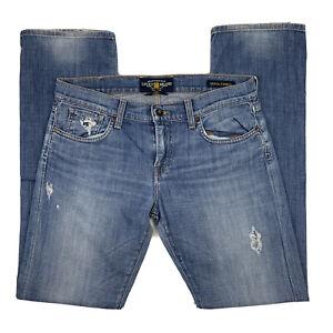 Lucky Brand Mujer 8 29 Sienna Tomboy Jeans Rectos Pantalones De Mezclilla Azul Ligera De Lavado Ebay