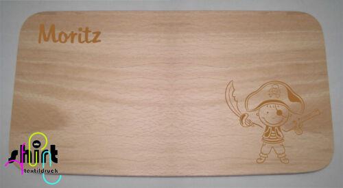 Pirat Name Holzbrett Holzbrettchen Lasergravur HB 100