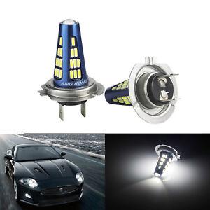2x-H7-Ampoules-LED-48-SMD-Blanc-feux-de-croisement-phares-feux-diurnes-Lampe-DRL