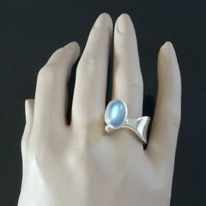 Einstellbare-offene-exquisite-Damen-Sterling-Silber-Ring-Oval-Diamond-Band-Ringe
