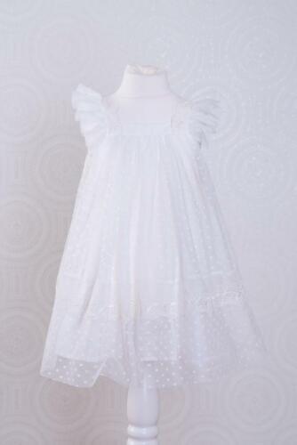Robe d/'été Taufkleid corvée Robe de mariée coton 62-104