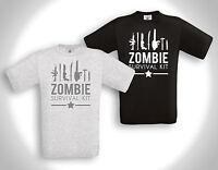 Zombie Survival Kit - T- Shirt - Horror The Walking Dead Emo Punk Monster